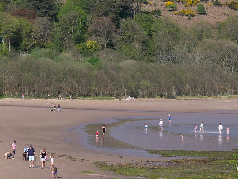 Sandyhills Bay beach